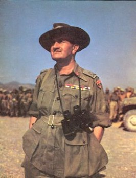 Lt Gen Slim at Fort Dufferin, Mandalay, in March 1945