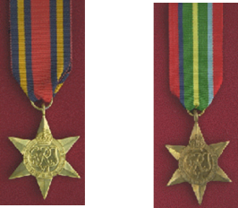 The Burma Star and Pacific Star with Burma clasp